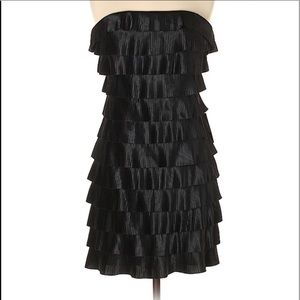 Express Black Tiered Ruffle Cocktail Dress